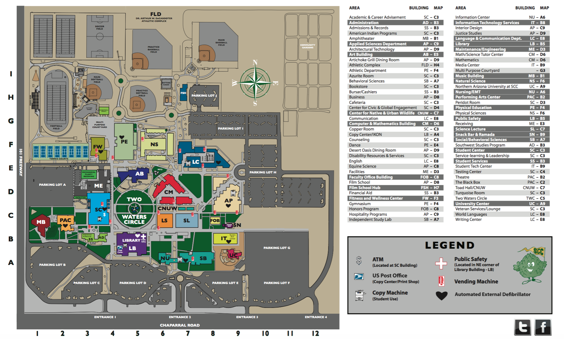Scc Campus Map Acda 2016 West Region