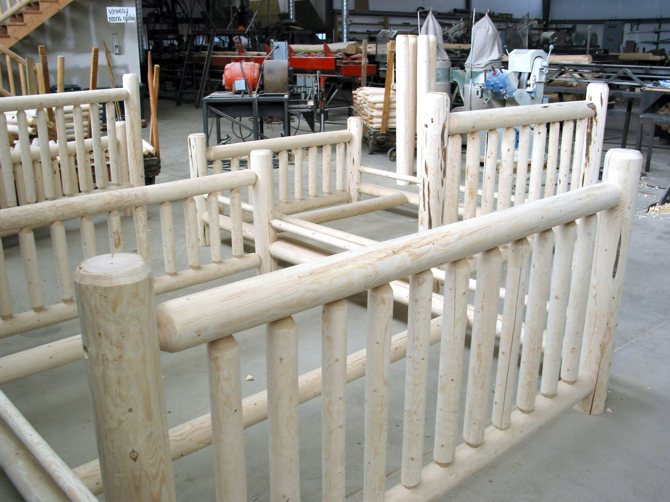 Nice Log bed frame
