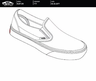 vans shoe design template