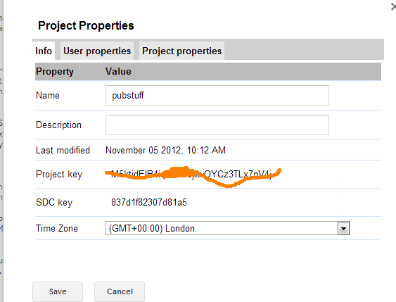 project properties google apps script