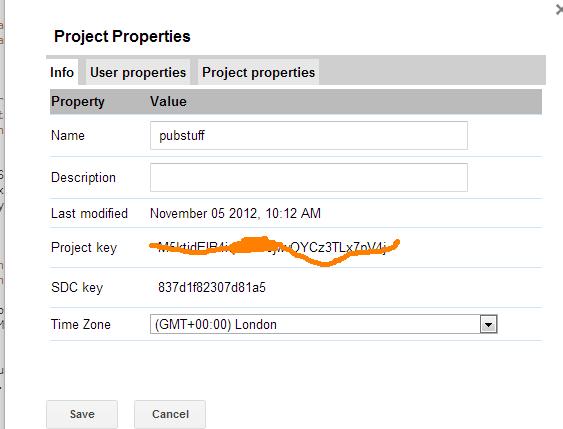 project properties google apps script