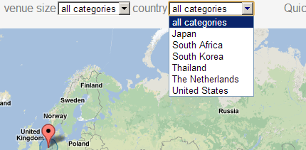 category filters on google maps