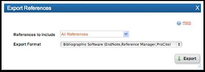 RefWorks Export preferences