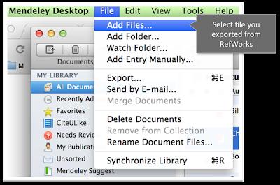Mendeley Desktop import/add file