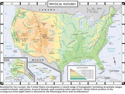 US Geography Senigaglia - Physical features of canada and the united states