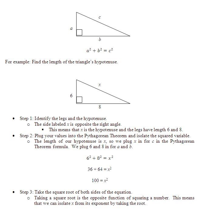 Pythagorean theorem essay