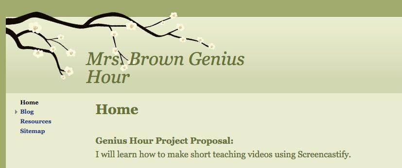 Website Template Genius Hour