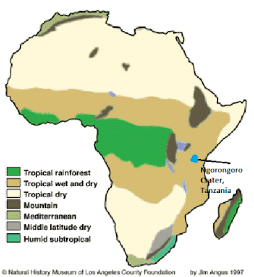 Ngorongoro Crater Conservation Area, Tanzania   Physical Geography