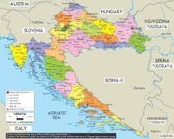 Maps - Croatia Administrative Map Of Treaty Trianon