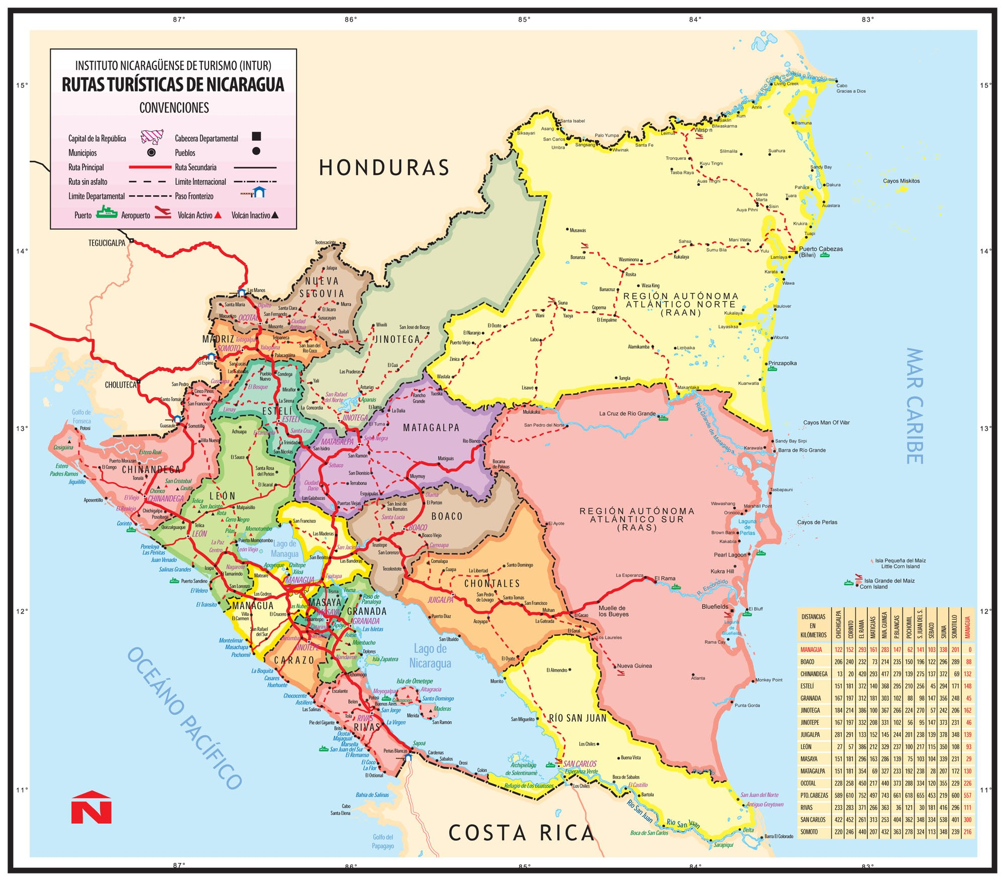 Physical Geography Weather and Maps Nicaragua World Cup 2013