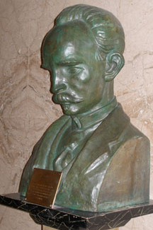 Bust of Jose Marti at the Ramsey County courthouse in Saint Paul