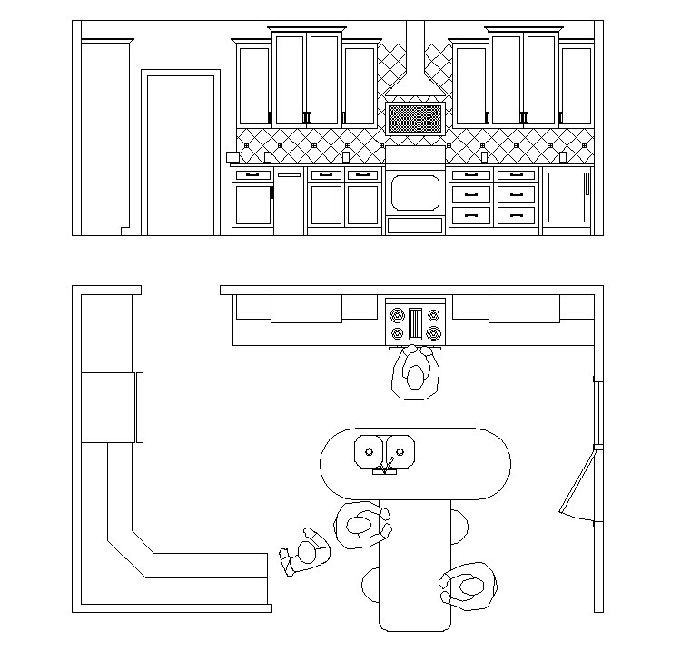Kitchen Floor Plans And Elevations