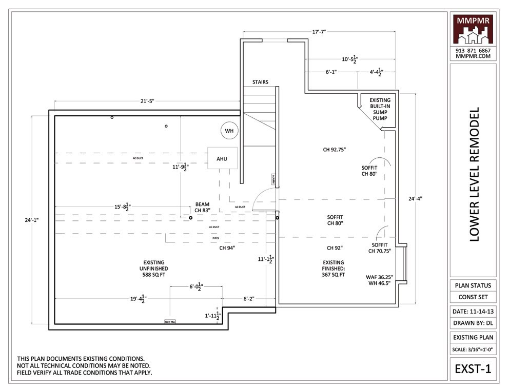 Epic North Kansas City Lower Level Construction Drawings