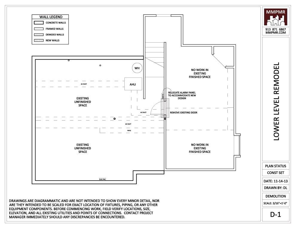 Luxury North Kansas City Lower Level Construction Drawings