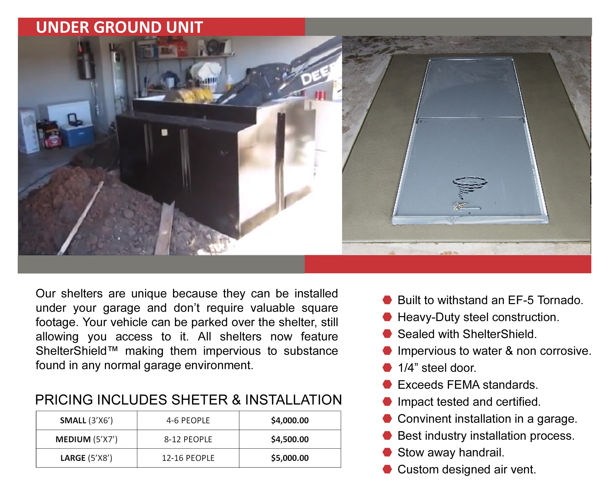 Tornado shelters mmpmr center and passed certification to withstand impacts associated with the 250 mph winds of an ef 5 tornado our shelters meet or exceed fema guidelines xflitez Gallery