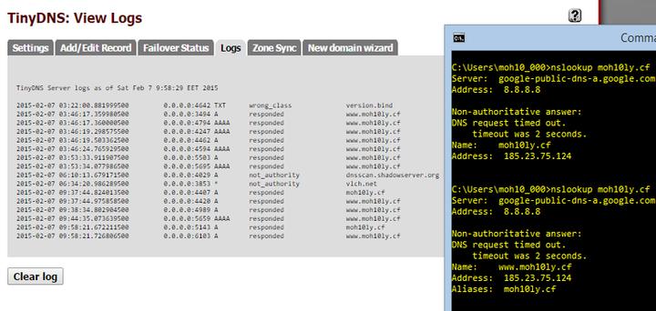 Create your own Nameserver using TinyDns on Pfsense