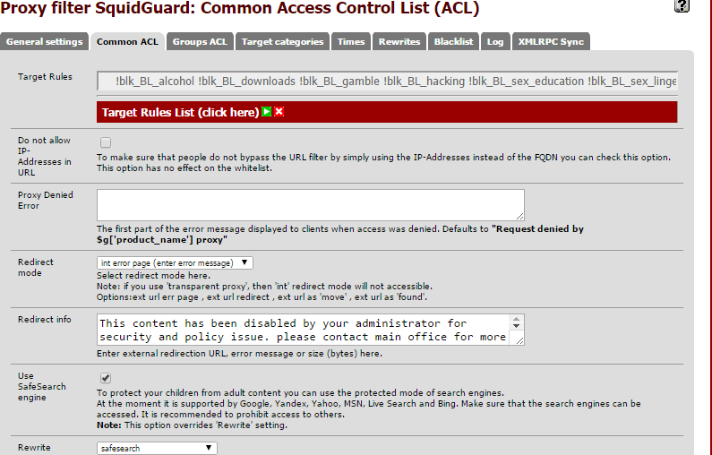 Setup Squid Guard (Proxy Server) on Pfsense - backup_2015