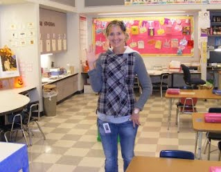 Mrs. Pace in the classroom