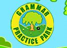 http://www.harcourtschool.com/menus/preview/harcourt_language/grammar_park.html