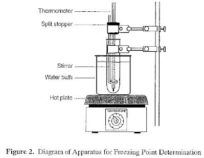 lab molar mass by freezing point Determination of molar mass by boiling point elevation of  it lowers the freezing point of the solvent and it will  get an unknown from your lab instructor.