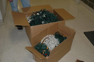 Recycled Christmas Lights