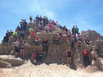 full group at The Badlands