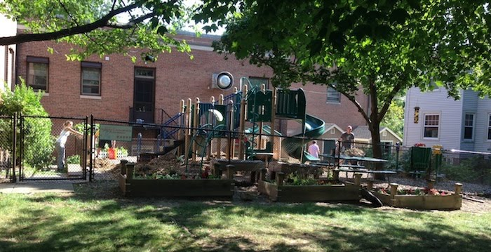 MMPS parents hard at working getting playground ready for camp & school