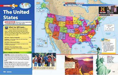 geography map of usa Unit 5   USA   Mr. Kloewer's 7th Grade World Geography