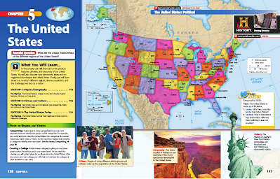 geography map of usa Unit 5   USA   Mr. Kloewer's 7th Grade World Geography