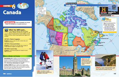 Map Of Canada Grade 6.Unit 6 Canada Mr Kloewer S 7th Grade World Geography