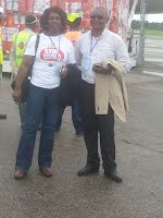 Arrival DR Airlift Mr Jalloh and Deputy Minister 21sept14