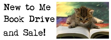 New to Me Book Drive and Sale banner