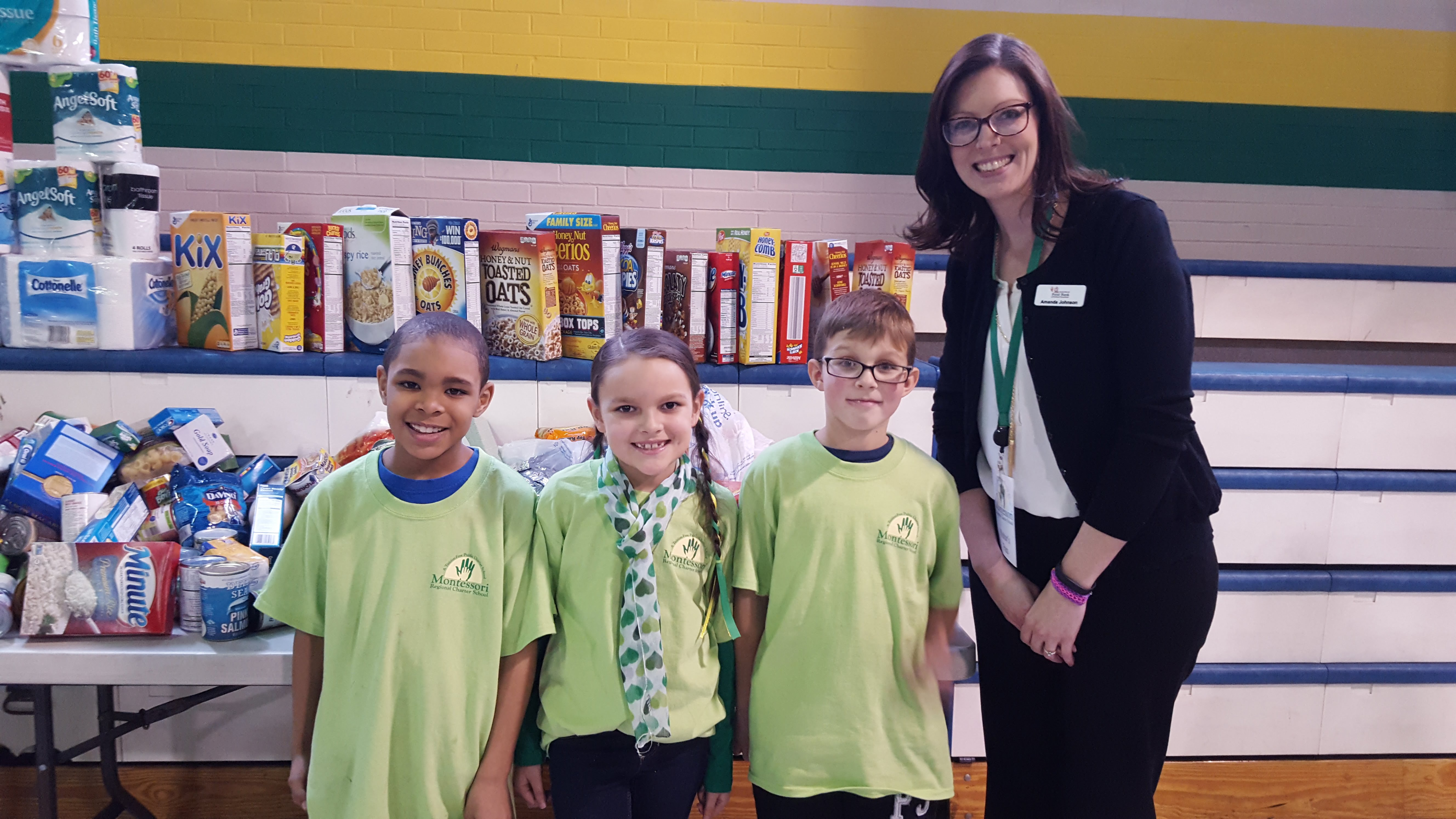 MRCS Students with Second Harvest Food Bank Drive