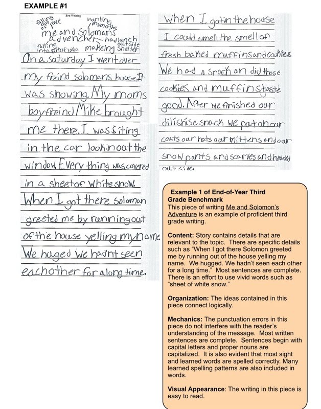 third grade writing samples Third grade\ron-demand informative / explanatory\rwriting samples 311  grade 3 on-demand writing, uniform prompt water use  what can i do to save water lots of people waste gallons of water a day some  microsoft word - big 1 dr811docx author: doug reymore created date.