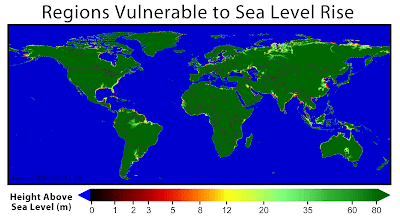 World Map If Sea Levels Rise.Sea Level Rise Water