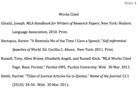 Example of a mla research paper