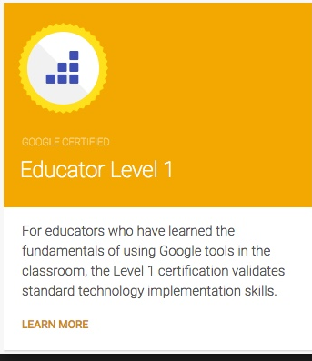 Google Certified Educator Level 1 - Digital Literacy Workshop