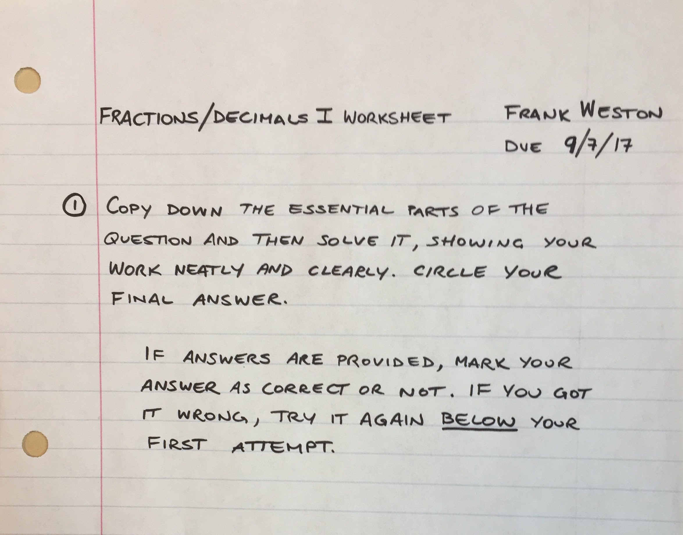 Homework 7th Grade Honors Math – Sign Up Math Worksheet