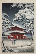 Zōjōji Temple in Snow