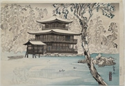Snow at Kinkaku Temple from the series New Selection of Noted Places of Kyoto