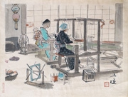 Women Weavers from the series Occupations of Showa Japan in Pictures, Series 2
