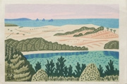 Tottorisakyū from an untitled series of scenic views of Japan