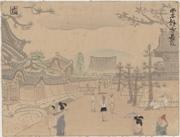 Nishihongan-ji Nagatsuji from the series New Views of Kyoto