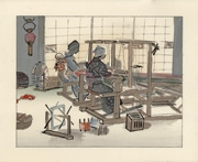 Women Weavers from the portfolio Japanese Life and Customs A Set of Six Pictures