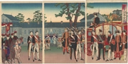 Illustration of the [Emperor at the] National Diet Building