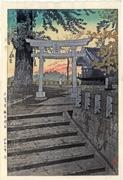 Evening Sky, Suwa Shrine, Nippori