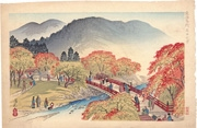 Autumn Scenery at Takao from the series Famous Places of Kyoto