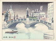 Nihonbashi from the series Four Seasons of Tokyo