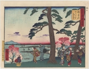 Kawarake-nage at Asukayama Park and Ōji Paper Company Viewed from Asukayama Park from the series Famous Places of Tokyo: Past and Present