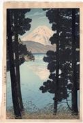 Mount Fuji from Lake Ashinoko at Hakone